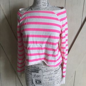 💖Aeropostale Pink and White Sweater💖